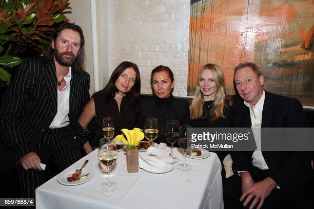 David Eustace Yanna Balan Inga Rubenstein Angelica Voss and Willy Lamarque attend Lehmann Maupin Gallery TRACEY EMIN Opening and Party at Wallse at...