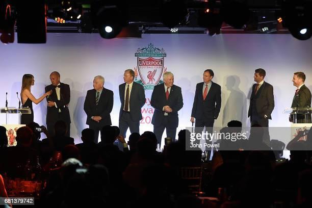 David Fairclough David Johnson Phil Thompson Ian Callaghan Phil Neal ex players of Liverpool accepting their award for Outstanding Team Achievement...