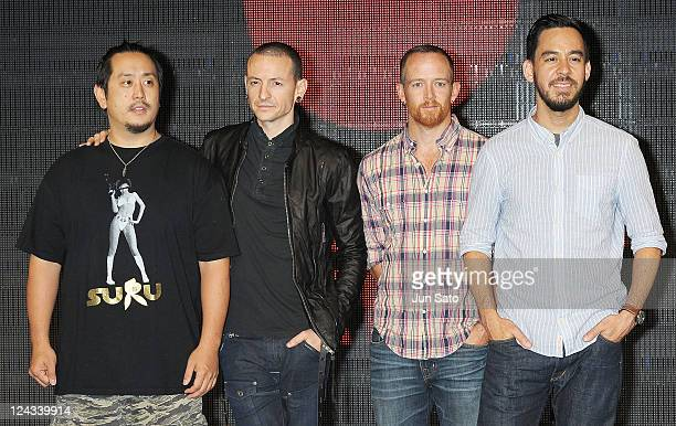 David Farrell Joe Hahn Chester Bennington and Mike Shinoda of Linkin Park attend Tsunami Relief Fundraiser Art Show For Japan 'A Thousand Horizons'...