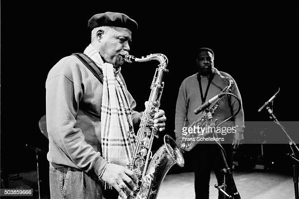 David 'Fathead' Newman , tenor saxophone, performs with Houston Person on January 29th 1998 at the BIM huis in Amsterdam, the Netherlands.