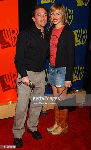 David Faustino and fiancee Andrea Elmer during The WB Network's 2004 All Star Party at Hollywood Highland in Hollywood California United States