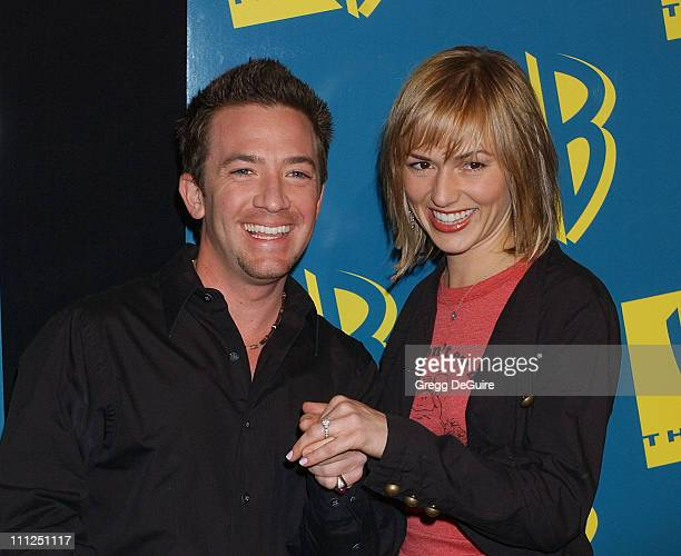 David Faustino and wife Andrea during The WB Network's 2004 All Star Party at Hollywood Highland in Hollywood California United States