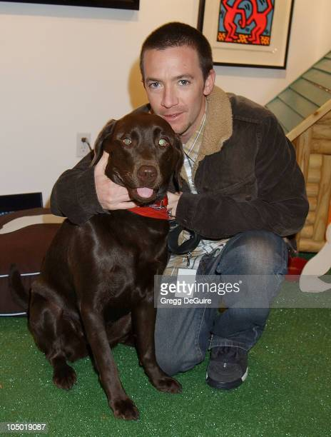 David Faustino his dog Sophie during Exhibition by Celebrity Animal Photographer Christopher Ameruoso at HamiltonSelway Fine Arts in West Hollywood...
