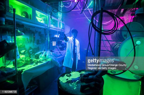David Fefferman u201cThe Doctoru201d is shown inside the Green Room at the Prism Haunted House set up at his Chamalea Drive home in Mission Viejo on...