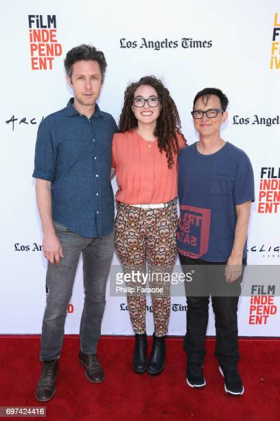 David Fenster Missy Laney and Asher Hartman attend the Opuntia Redmond Hand and Private Dick Premieres during 2017 Los Angeles Film Festival at...