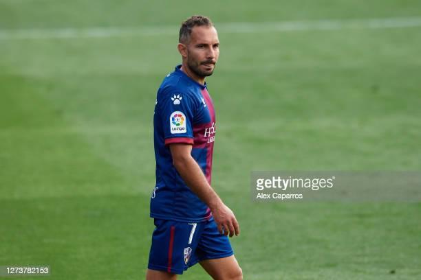 David Ferreiro of SD Huesca looks on during the La Liga Santander match between SD Huesca and Cadiz CF at Estadio El Alcoraz on September 20 2020 in...