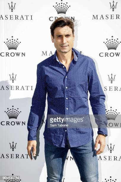 David Ferrer arrives ahead of the 2018 Crown IMG Tennis Player at Crown Palladium on January 14 2018 in Melbourne Australia