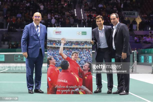 David Ferrer attends Copa Davis Finals at Caja Magica on November 20 2019 in Madrid Spain