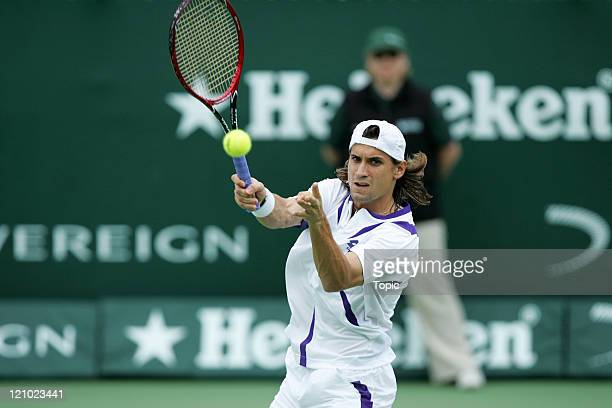 David Ferrer during the Heineken Open finals at the ASB Tennis Centre in Auckland, New Zealand on January 13, 2007.