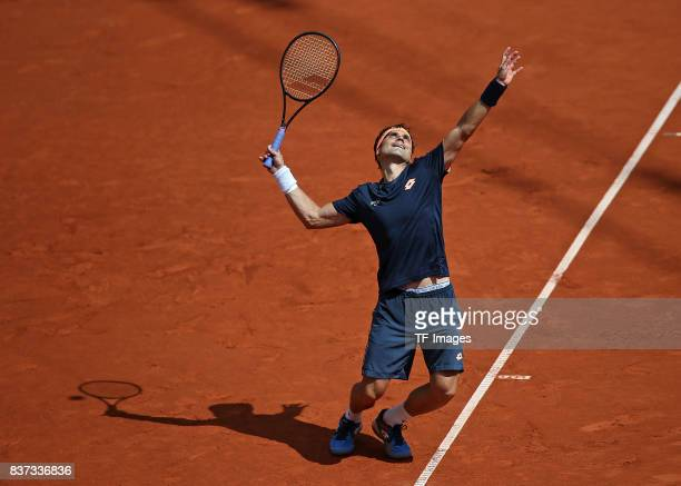 David Ferrer of Spain in action during the International German Open at Rothenbaum on July 26 2017 in Hamburg Germany
