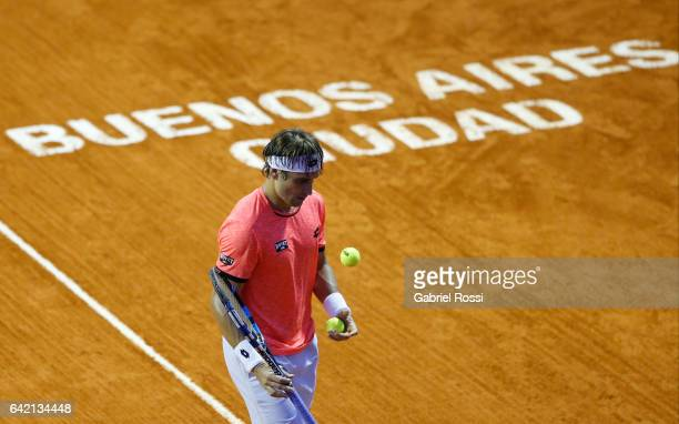 David Ferrer of Spain looks on during a second round match between David Ferrer of Spain and Carlos Berlocq of Argentina as part of ATP Argentina...