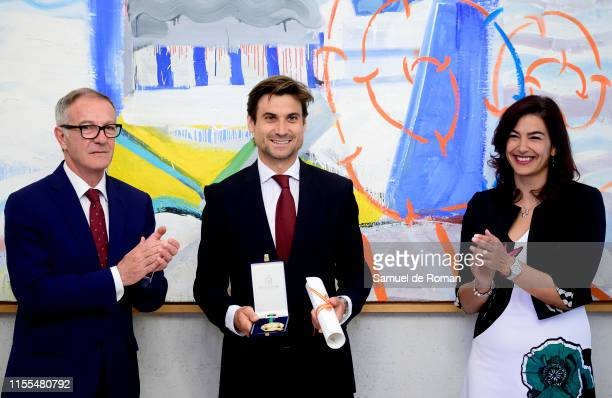 David Ferrer receives the Gold Medal for Sporting Merit from Minister of Culture and Sports of Spain, José Guirao and President of the Consejo...