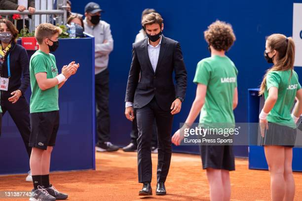 David Ferrer Tournament director looks on during the Conde Godo tournament celebrated at Real Club de Tenis on april 22 in Barcelona, Spain.