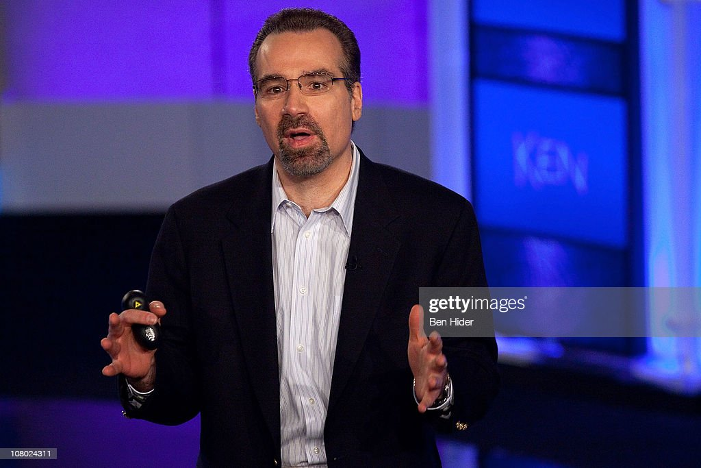 David Ferucci, Principal Investigator of Watson DeepQA technology, IBM Research attends a press conference to discuss the upcoming Man V. Machine 'Jeopardy!' competition at the IBM T.J. Watson Research Center on January 13, 2011 in Yorktown Heights, New York.