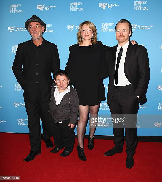 David Field, Jamie Fallon,Susan Prior and Anthony Hayes walk the red carpet at the Australian Premiere of The Rover at the State Theatre on June 7,...