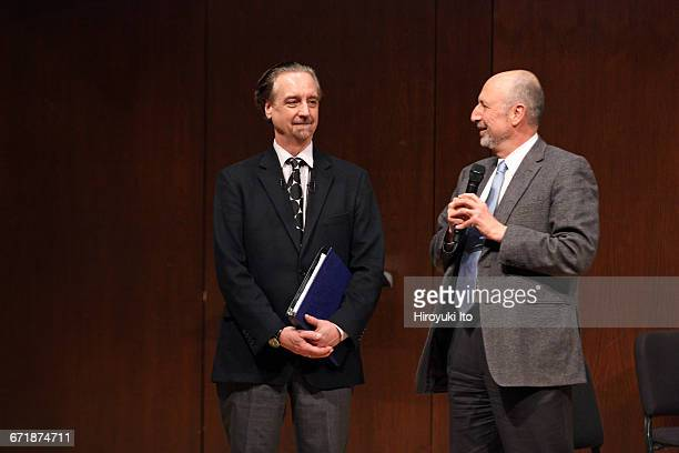 David Finckel Master Class at Juilliard School's Paul Hall on Monday afternoon March 21 2016 This image David Finckel left and Ara Guzelimian