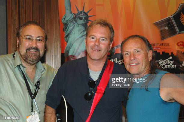 David Fishof, Kevin Tibbles and Mark Farner during Rock N Roll Fantasy Camp Day 4 at Rock N Roll Fantasy Camp in New York City, New York, United...