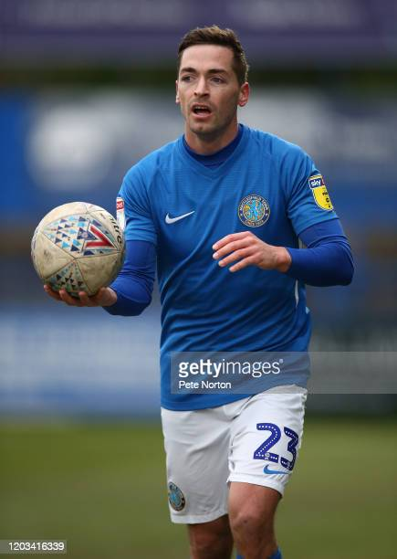 David Fitzpatrick of Macclesfield Town in action during the Sky Bet League Two match between Macclesfield Town and Northampton Town at Moss Rose...