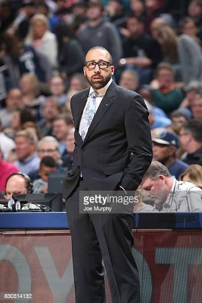 David Fizdale of the Memphis Grizzlies looks on during the game against the Cleveland Cavaliers on December 14 2016 at FedExForum in Memphis...