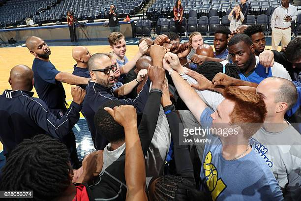 David Fizdale of the Memphis Grizzlies participates in a coaching clinic to tipoff The Memphis Police Athletic/Activities League program on December...