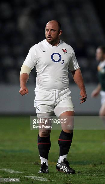 David Flatman of England looks on during the match between the Australian Barbarians and England at on June 15 2010 in Gosford Australia