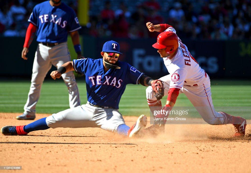 Texas Rangers v Los Angeles Angels of Anaheim : News Photo