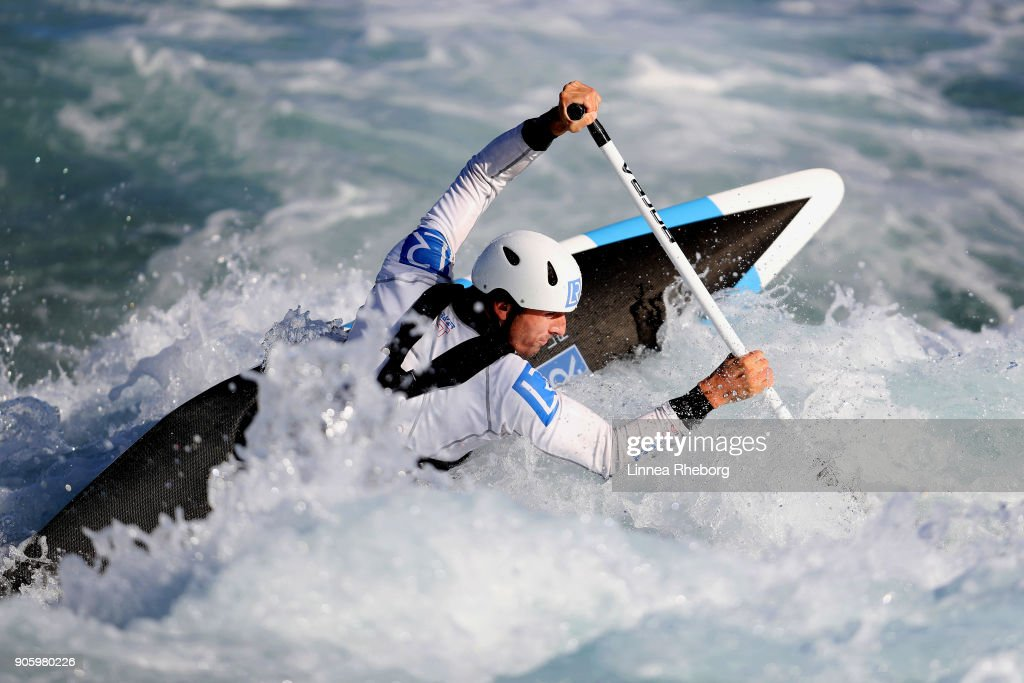 David Florence of Great Britain trains in the Canoe Single (C1) at Lee Valley White Water Centre on September 13, 2017 in London, England.