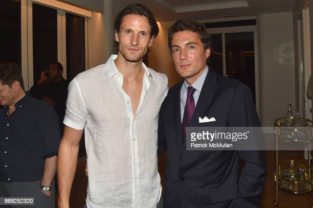 David Florin and Fabian Basabe attend the Galerie Gmurzynska Dinner in Honor of Jean Pigozzi at the Penthouse at the Faena Hotel Miami Beach on...