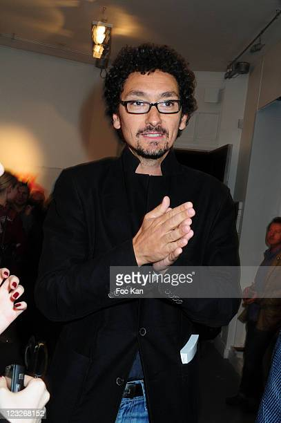 David Foenkinos attends the Bordel Magazine Reading Aloud Party and 'Au bord d'elles' writer Alexandra Geyser Photos Exhibition at the Galerie Chappe...