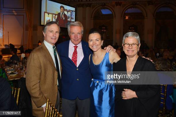 David Ford Dan Lufkin Allison Rockefeller and Maggie Walker attend National Audubon Society Gala 2019 at The Plaza Hotel on February 7 2019 in New...