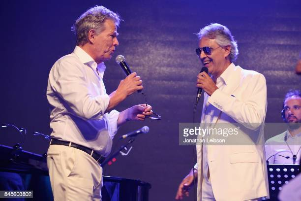 David Foster and Andrea Bocelli attend the Closing Night Gala at Cinecittà as part of the 2017 Celebrity Fight Night in Italy Benefiting The Andrea...
