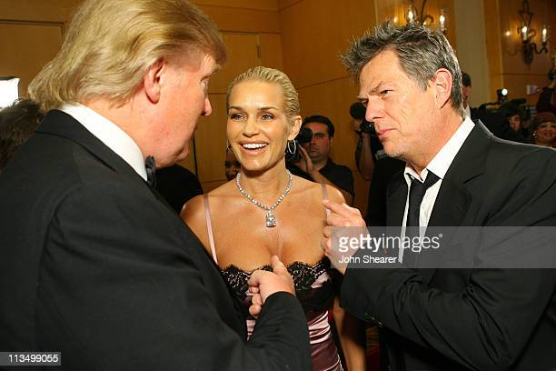 David Foster and Donald Trump and guest during Muhammad Ali's Celebrity Fight Night XIII Red Carpet at Marriot Desert Ridge Resort Spa in Phoenix...