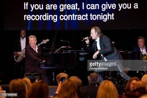 David Foster and John Corbett attend the Celebrity Fight Night's Founders Club Dinner at JW Marriott Desert Ridge Resort & Spa on March 22, 2019 in...
