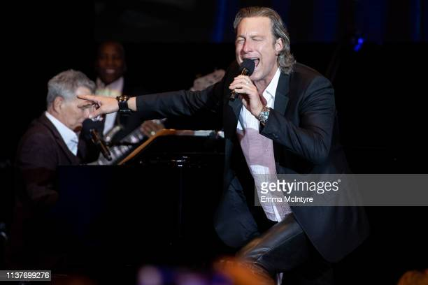 David Foster and John Corbett attend the Celebrity Fight Night's Founders Club Dinner at JW Marriott Desert Ridge Resort Spa on March 22 2019 in...