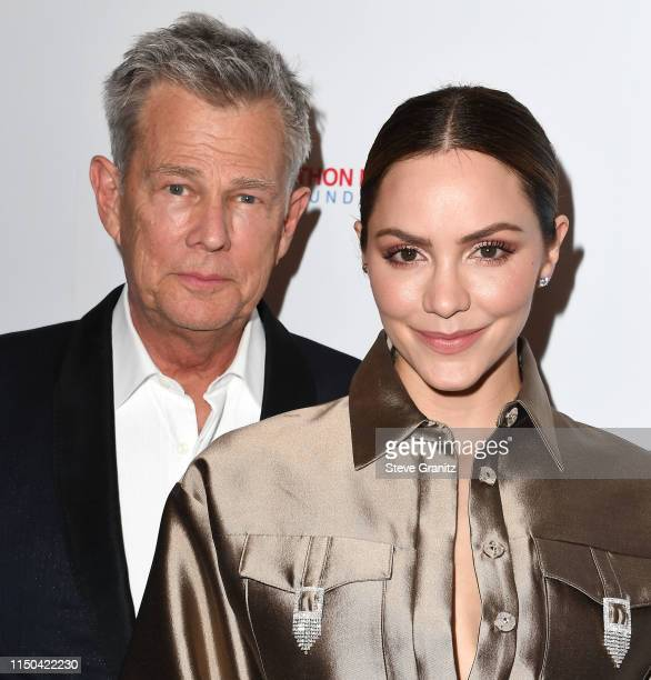 David Foster and Katharine McPhee arrives at the American Icon Awards at the Beverly Wilshire Four Seasons Hotel on May 19, 2019 in Beverly Hills,...