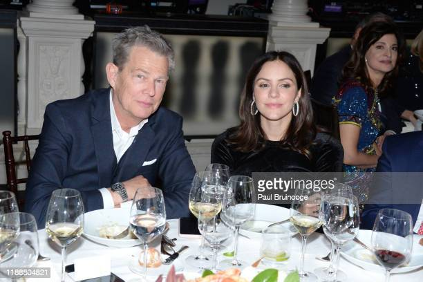 David Foster and Katharine McPhee attend Prostate Cancer Foundation's Dinner At Daniel on November 19 2019 at Daniel in New York City