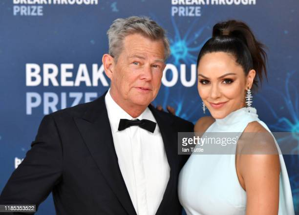 David Foster and Katharine McPhee attend the 2020 Breakthrough Prize Red Carpet at NASA Ames Research Center on November 03, 2019 in Mountain View,...