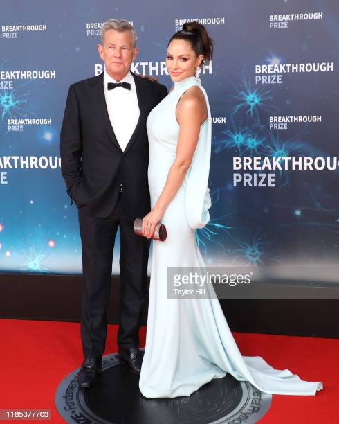 David Foster and Katharine McPhee attend the 2020 Breakthrough Prize Ceremony at NASA Ames Research Center on November 03, 2019 in Mountain View,...