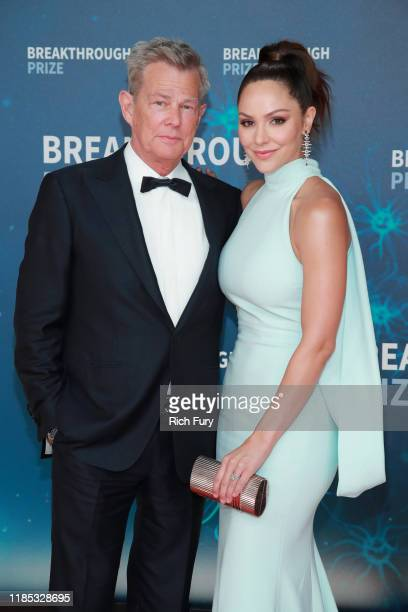 David Foster and Katharine McPhee attend the 8th Annual Breakthrough Prize Ceremony at NASA Ames Research Center on November 03, 2019 in Mountain...