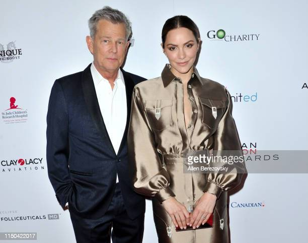 David Foster and Katharine McPhee attend the American Icon Awards at the Beverly Wilshire Four Seasons Hotel on May 19 2019 in Beverly Hills...