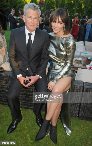 David Foster and Katharine McPhee attend the Argento Ball for the Elton John AIDS Foundation in association with BVLGARI Bob and Tamar Manoukian on...