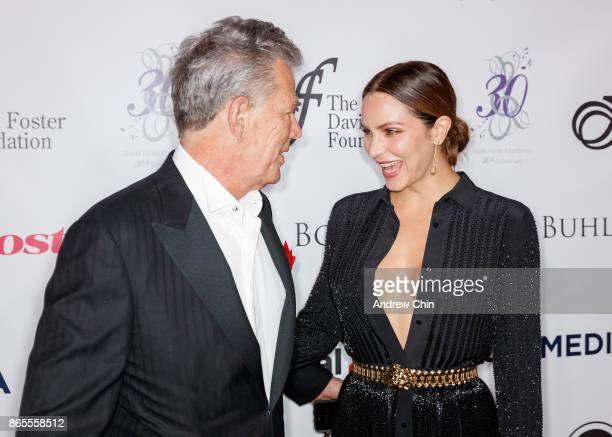 David Foster and Katharine McPhee attend the David Foster Foundation Gala at Rogers Arena on October 21 2017 in Vancouver Canada