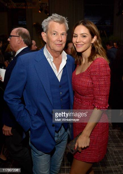 David Foster and Katharine McPhee attend The Hollywood Foreign Press Association and The Hollywood Reporter party at the 2019 Toronto International...