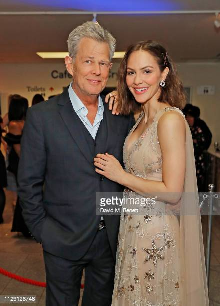 David Foster and Katharine McPhee attend the press night after party for 'Waitress The Musical' at Cafe At The Crypt St MartinintheFields on March 7...