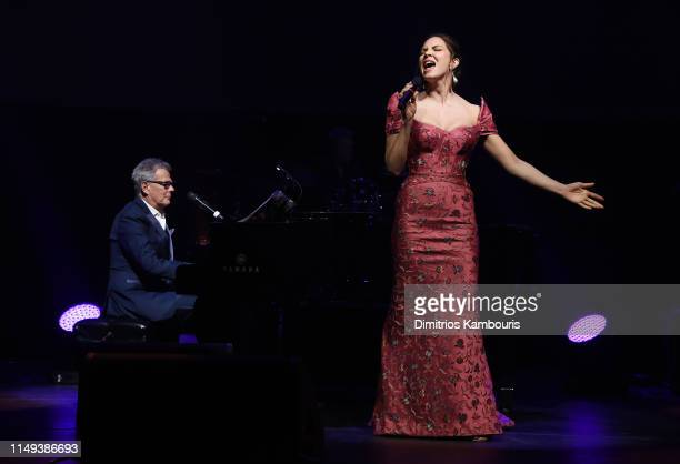 David Foster and Katharine McPhee perform onstage during the Hot Pink Party hosted by the Breast Cancer Research Foundation at Park Avenue Armory on...
