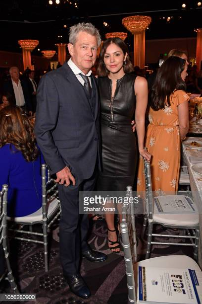 David Foster and Katherine McFee attend Friends of The Israel Defense Forces Western Region Gala at The Beverly Hilton Hotel on November 1 2018 in...