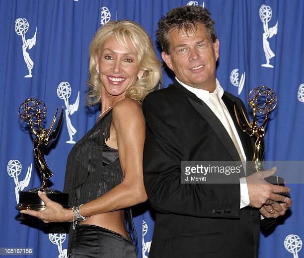 David Foster and Linda Thompson during The 55th Annual Primetime Creative Arts Emmy Awards - Press Room at Shrine Auditorium in Los Angeles,...