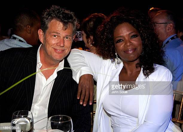 David Foster and Oprah Winfrey during Starry Night Benefit Honoring Los Angeles Mayor Antonio Villaraigosa - Inside at Villa Casablanca in Malibu,...