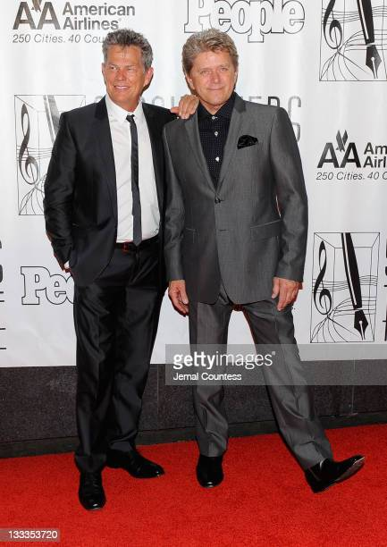 David Foster and Peter Cetera attend the 41st Annual Songwriters Hall of Fame Ceremony at The New York Marriott Marquis on June 17 2010 in New York...
