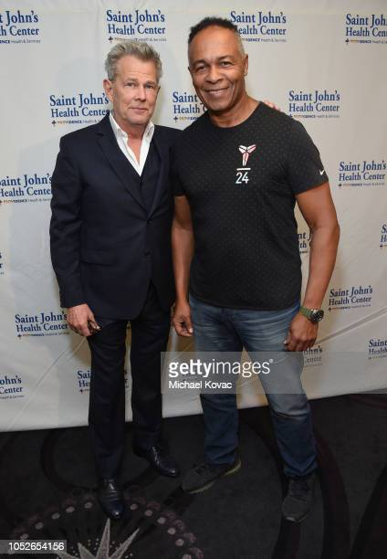 David Foster and Ray Parker Jr. Attend the Saint John's Health Center Foundation Gala at The Beverly Hilton Hotel on October 20, 2018 in Beverly...